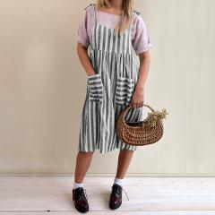 2018 ZANZEA Women Summer Strappy Sleeveless Striped Casual Loose Dress Vintage Party Beach Overalls Dress Vestido Plus Size