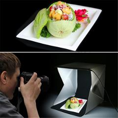 Foldable Portable Photo Mini Light Box Studio Tent Home Photography LED