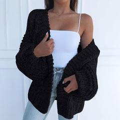 Winter Sweater Women 2019 Plus Size Knitted Fashion Sweater Jacket Black Cotton Cardigan Female Casual Korean Cardigan Sweaters