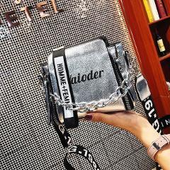 Flash Sale Laser Women Letter Shoulder Bag INS Female Handbag Holiday PU Messenger Bags For Lady Exquisite Crossbody Bucket