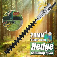 9 Teeth Gearbox 28mm Pole Hedge Trimmer Bush Cutter Head Attachment For Trimming Hedges Chainsaw Garden Power Tools