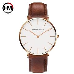 Dropshipping High Quality DW Watch Style Watch Men Leather Waterproof Wristwatch Women Dress Fashion Japan Quartz Movement Saat
