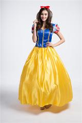 S-2XL High Quality Adult Halloween Snow White Princess Costume Halloween Cosplay Holiday Party Princess Long Dress