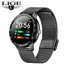 LIGE 2019 New Smart Watch Men OLED Color Screen Heart Rate Blood Pressure Multi-Function Mode Sport smartwatch fitness Tracker