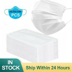 100PCS 3-layer Surgical Mask Medical Masks Disposable Mouth Mask Anti-dust Mouth White Nose Proof Respirator