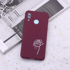 For Xiaomi Mi Redmi Note 5 6 7 8 9 lite Pro Plus Burgundy Heart Roses Tears Candy Silicone Phone Case Cover Capa Fundas Coque