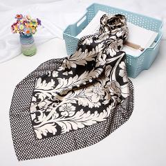 2019 Fashion Hair Scarf For Women Print Silk Satin Hijab Scarfs 90cm*90cm Square Shawls Neckerchief Headband Scarves For Ladies