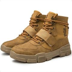 Adisputent 2019 High Quality Fashion Winter Men's Boots Warm Working Boots Lace Up Men's Desert Boots Round Toe High Top Shoes
