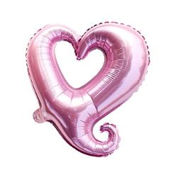 1PC 18-inch Love Flower Hollow Heart Shape Foil Balloons valentine's day Wedding Birthday Party Celebration Decoration Balloon