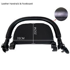 Baby Cart Footboard & Leather Bumper Bar & Handrest Baby Stroller Accessories Fit Yoyo Yoya YuYu Pram Armrest Footrest