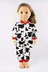 Fit For 18'' American Girl Doll Clothes Panda Markings One-piece Garment Gift