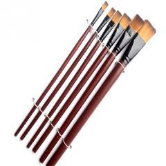 6pcs/Pack Painting Brush Pen Art Brown Nylon Acrylic Paint Brushes Artist Students Drawing Pens