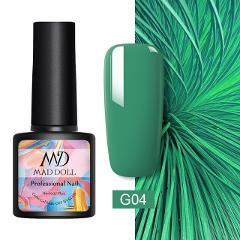 MAD DOLL Green Series Gel Nail Polish 8ml Pure Nail Color Soak Off UV Gel Varnish One-shot Color Nail Art Gel Lacque Manicur