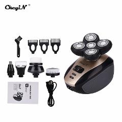 5 in 1  Electric Razor 5D Floating Head Razor Shaving Machine Clipper Nose Trimmer Hair Beard Trimmer Facial Cleaning