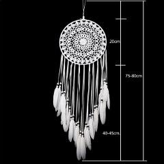 Dream Catcher Home Decor White Feather Dreamcatcher Wind Chimes Indian Style Religious Mascot Car Wall Decoration 2018