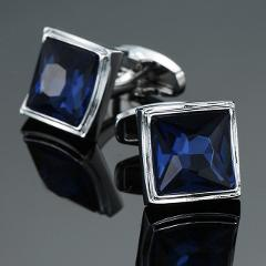 Free shipping 30 kinds of high-end luxury men's shirt Cufflinks New Fashion Blue Crystal Cufflinks men's brand crystal Cufflinks