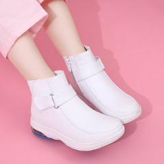 White Nurse Work Shoes Women Soft High Quality Winter Warm Thick Shoes Hospital Doctor Medical Non-slip Shoes