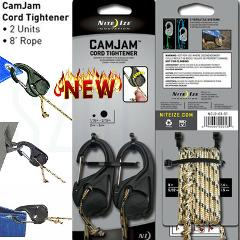 Free shipping Nite Ize CamJam Cord Tightener w/ Rope Lightweight Sturdy Durable(1Pack 2Pcs)