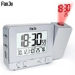 Fanju FJ3531 Projection Alarm Clock Digital Date Snooze Function Backlight Rotatable Wake Up Projector Multifunctional Led Clock