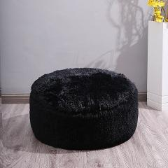 Long Plush Round Floor Seat Cushions for Living Room Decoration Inflatable Beanbag Foot Stools Change Shoes Bench