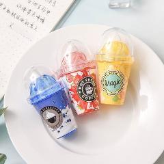 Lytwtw's Cute Kawaii Milk Tea Cup Ice Cream Correction Tape Stationery Office School Supplies Bottle corrector novel creative