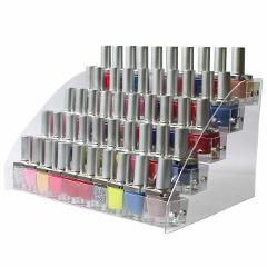 New Transparent Makeup Storage Organizer 2-3-4-5-6-7 Layers Nail Polish Rack Display Shelf Cosmetic Organizer Household Storage