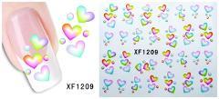 waterproof Water Transfer Nails Art Sticker cartoon love design girl and women manicure tools Nail Wraps XF1209