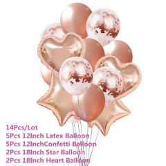 Chicinlife 30/40/50/60 Anniversary Rose gold  Air Balloon kids Happy Birthday  Adults Aged Wedding Decoration Supplies