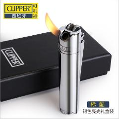 Made in China ( Lighter No gas) Zinc alloy Slim pipe gas lighter Inflatable butane flame wheel metal lighter;Gift box packing