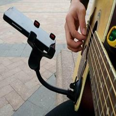 Phone Holder Stand for Guitar Street Singing lyrics Song Car Sucker Cups Support Holder Musicians Guitar Stand Guitar Accessory
