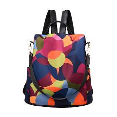 Women Wild Travel Backpack Colorful Oxford Cloth Student Bag Backpack Famous Brand PU Leather Bags Zaino da donna