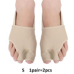 1Pair Toe Separator Hallux Valgus Corrector Feet Bone Thumb Adjuster Toe Separator Pedicure Socks Pain Relief Bunion Tool