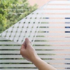 Frosted Stripes Window Film Wall Sticker Window Stickers Window Decals Electrostatic Glass Film 3 Size