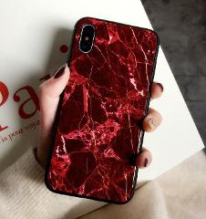 Luxury Marble Glass Hard Protective Cover Case for iPhone Xs Max XR X 8 7 Plus