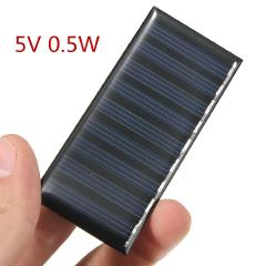 Solar Panel DIY 5V 0.5W 100mAh Mini Battery Powered Models Polycrystalline Silicon Epoxy for Charging Cellphone DC Wholesale
