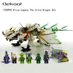 Ninjagoes Legacy The Ultra Dragon kit Minifigs Blocks Lloyd Wu Pythor Compatible legoe 70679 building Block kid Toy NEW 2019