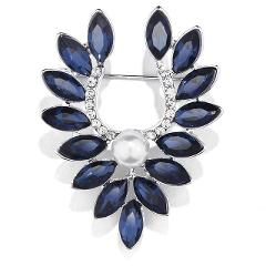 Fashion Imitation pearls Peace Collar crystal Angel wings Brooches for Women and cute girl party banquet decoration jewelry