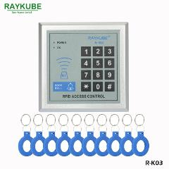 RAYKUBE RFID Reader Access Control Keypad Proximity Entry Door Lock +10pcs Keyfobs  For House / Office / Home Improvement R-K03