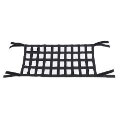 Black Oxford Cloth Multifunctional Magic Sticker Roof Storage Hammock Roof Protection Net 4X10 Mesh Suitable For Jeep Wrangler