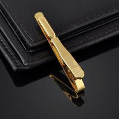 Men Metal Silver Gold Simple Necktie Tie Bar Clasp Clip Clamp Pin Men Stainless Steel For Business Necktie Tie Clasps