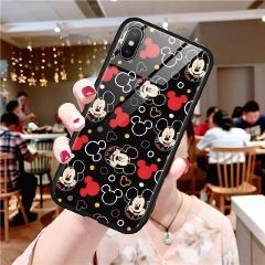 Cartoon Cute Tempered Glass Luxury Cute Cases For iPhone 11 Pro XR XS MAX X 7 8 6 6S Plus Protective Phone Back Cover Case Shell
