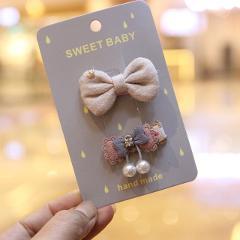 2pc/set Cute Baby Girl Hairpins Cartoon Bobby Pins Kids Hair Clips For Girls Barrettes Accessories Headdress Children Headwear