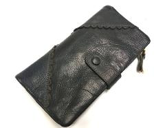 Genuine leather cow skin solid long purse card holder wallet for women