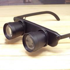 3X Magnifier 28mm Magnifying Glass For Outdoor Fishing Optics Binoculars Telescope Glasses Style Black