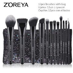 ZOREYA Make Up Brush Set 2/8/12pcs Delicate Makeup Brushes Powder Foundation Contour and Eye Brushes 2019 New Model