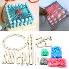 Crochet Portable DIY Tool Craft Yarn Knit Weave Loom Kit Adjustable Accessories Knitting Board ABS Scarf Multifunction Sewing