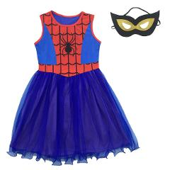 Baby Girls Spiderman Dress Halloween Cosplay Superhero Costume Children Party Fancy Princess Dress Kids Sleeveless Prom Clothing