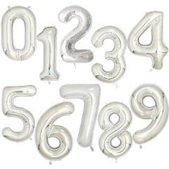 40Inch Big Foil Birthday Balloons Helium Number Balloon 0-9 Happy Birthday Wedding Party Decorations Shower Large Figures Globos