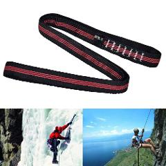 Rock Climbing Sling Rope Protector 60cm Nylon Bearing Strap Reinforce Rope Belt Arborist Mountaineering Equipment