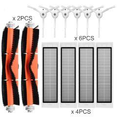 12PCS Robot Vacuum Cleaner HEPA Filter Accessories for xiaomi Vacuum Cleaner 1/2 roborock s50 S55 S51 S6 roborock mi Robot Parts